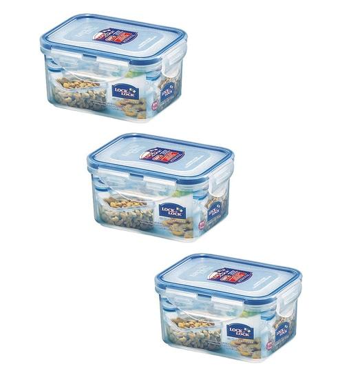12ec3fec225 Buy 470ml Rectangular Plastic Container - Set of 3 Online - Air Tight  Containers - Air Tight Containers - Kitchenware - Pepperfry Product