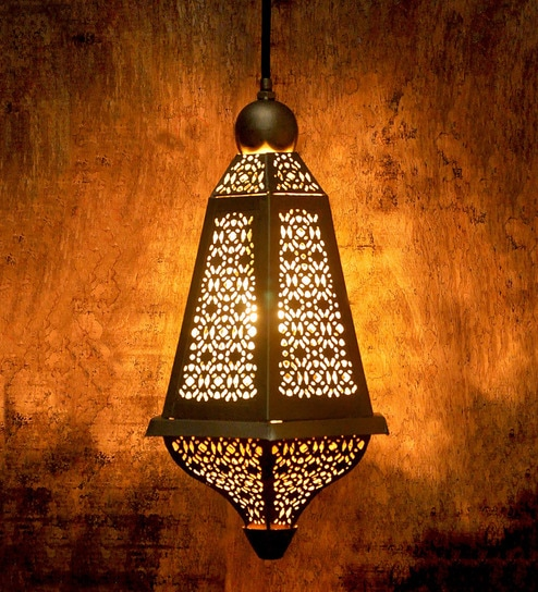 Hanging Lamp Moroccan: Buy Girih Moroccan Golden Iron Hanging Lamp By Logam