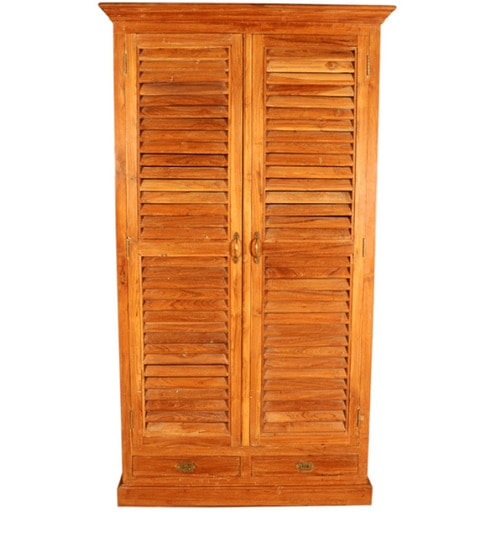 Long Teak Wood Wardrobe