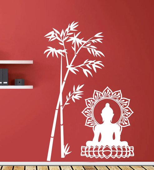 buy lord buddha under tree wall sticker & decalstickeryard