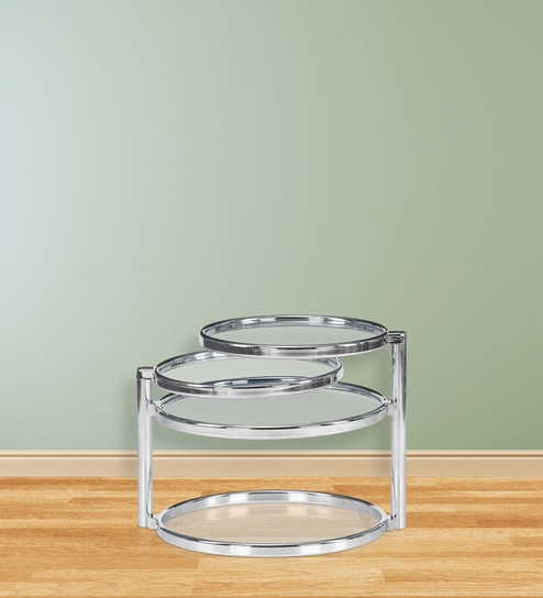 Lorena With Four Ring Glass Center Table Finish By @home