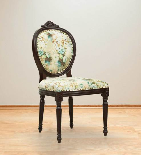 Upto 50% Off On Dining Chairs By Pepperfry | Lorraine Dining Chair in Chintz Print by Amberville @ Rs.12,499