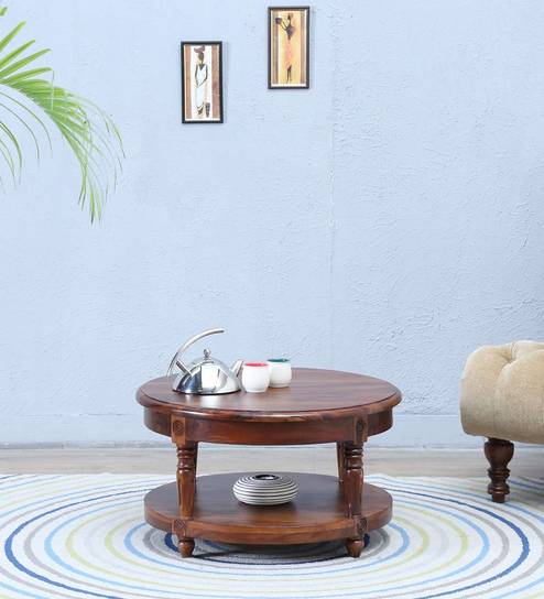 Louis Coffee Table in Provincial Teak Finish by Amberville