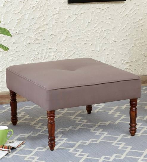 Louis Ottoman In Honey Oak Finish By Amberville