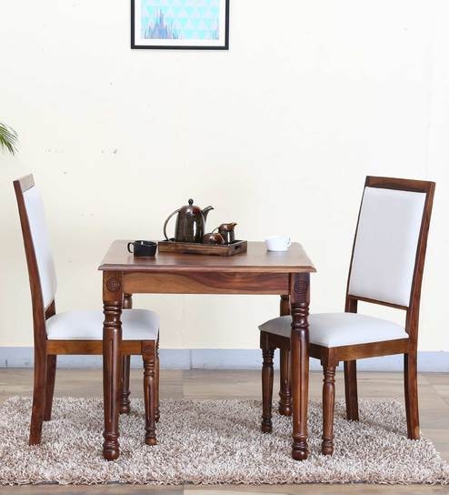 Louis Solid Wood Two Seater Dining Set In Provincial Teak Finish By Amberville Online Sets Furniture Pepperfry Product