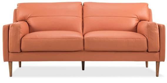 Louis Two Seater Sofa In Orange Colour