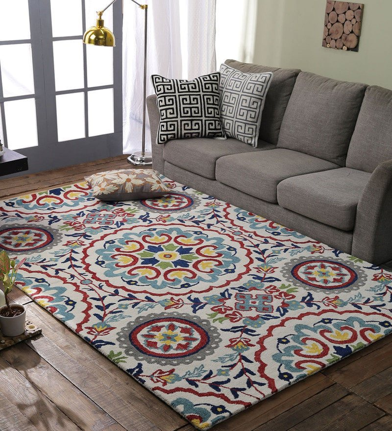 Loom Works Multicolour 100% Wool Area Rug