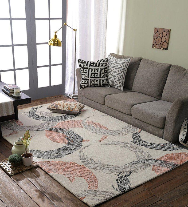 Multicolour 100% Wool Area Rug by Loom Works