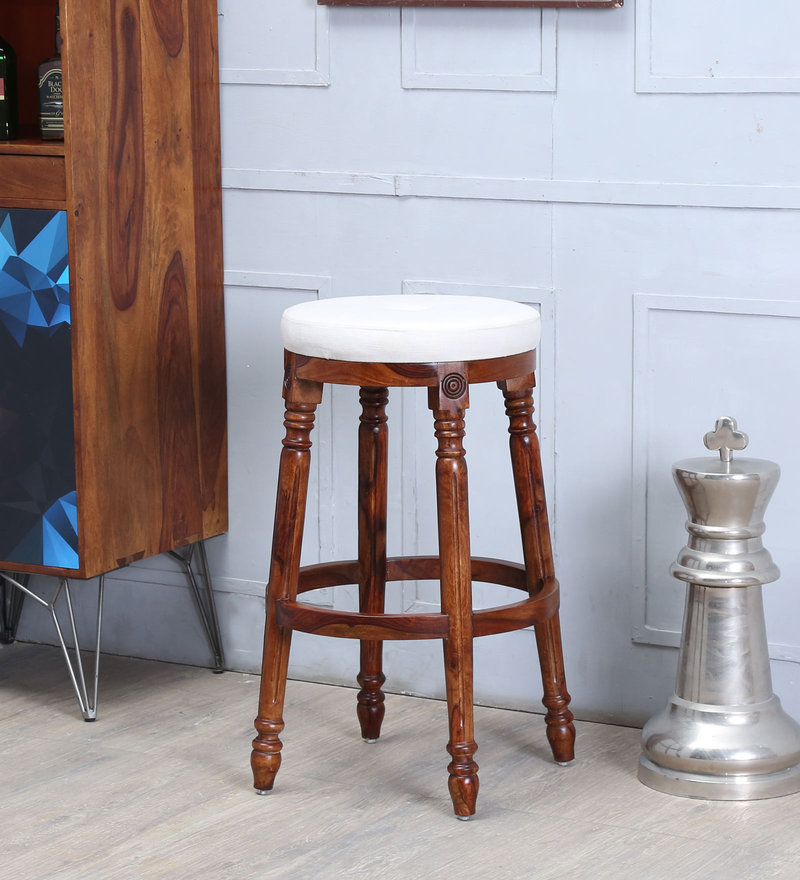 Louis Bar Stool in Provincial Teak Finish by Amberville