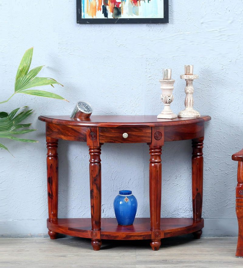 Louis Console Table in Honey Oak Finish by Amberville