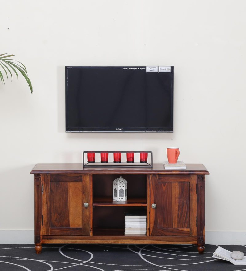 Louis Entertainment Unit in Honey Oak Finish by Amberville