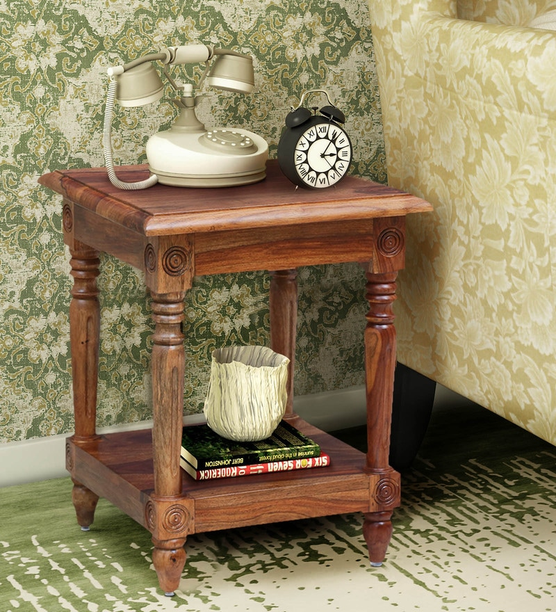 Classic Modular Kitchen Cabinets Rs 18000 Piece: Buy Louis Solid Wood End Table In Rustic Teak Finish By