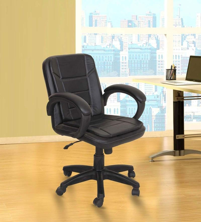 Low Back Black Ergonomic Chair by Adiko Systems