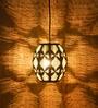 Gold Contemporary Moorish Hanging Lamp by Logam