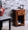 Logan End Table in Warm Walnut Finish by Woodsworth