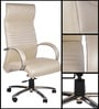 London High Back Executive Chair in Cream Colour by Chromecraft