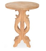 Luisa Center Table in Light Brown Finish