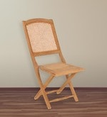 Luisa Folding Chair in Light Brown Finish