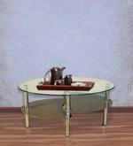 Luna Centre Table in Brown Finish