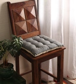 Sedona Sage & Ecru Cotton & Polyester 16 x 16 Inch Half Panama Chair Pad