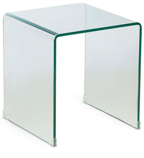 Lucida Compact Side Table In Transparent Finish By HomeHQ