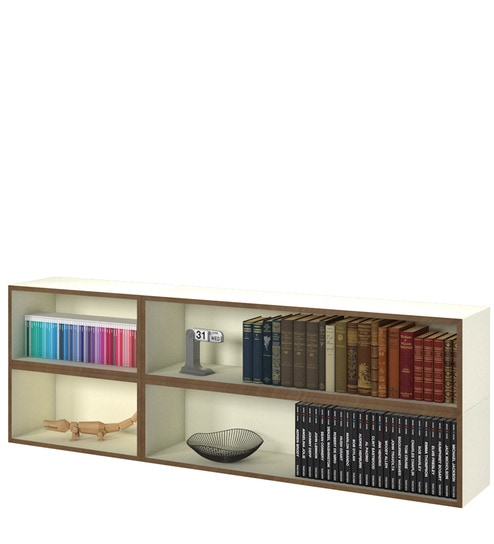 Buy Luke Wall Mounted Book Shelf In White Colour By Forzza Online