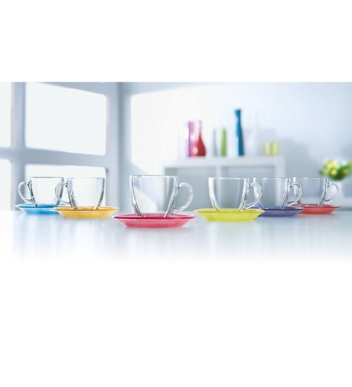 306b794e16 Buy Glass 220 ML Cups and Saucer- Set of 6 with Saucer by Luminarc Online - Glass  Cups & Saucers - Dining & Bar - Dining & Bar - Pepperfry Product