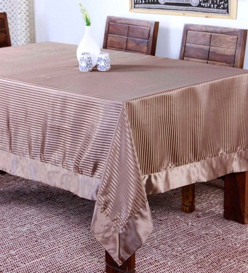 Buy Polyester Brown Table Cloth by Lushomes Online - Solid Table Cloths - Dining \u0026 Bar - Dining \u0026 Bar - Pepperfry Product & Buy Polyester Brown Table Cloth by Lushomes Online - Solid Table ...