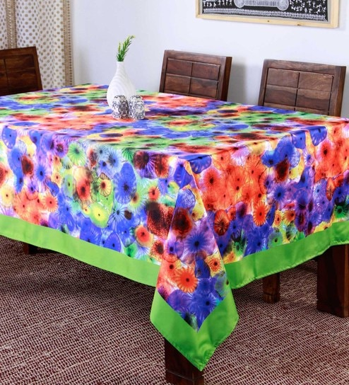 9025fde725d Buy Lushomes Digital Printed Green Theme Table Cloth Online - Abstract Table  Cloths - Dining   Bar - Dining   Bar - Pepperfry Product