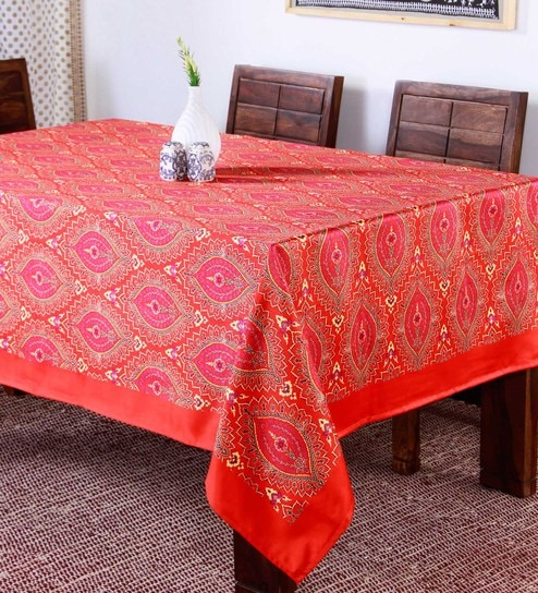 70a5783e698 Buy Lushomes Digital Printed Maroon Theme Table Cloth Online ...