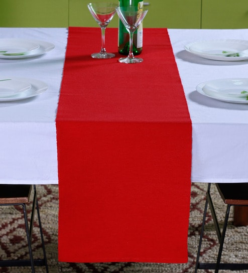 buy lushomes ribbed red table runner online table runners dining