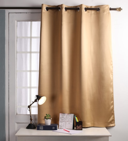 Buy Lushomes Strong Ground Polyester 60 x 54 Inch Plain Blackout ...