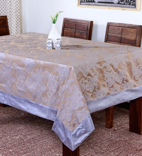 4c639e8aa8c Buy Polyester Multicolour Table Cover Online - Ethnic Table Cloths - Dining    Bar - Dining   Bar - Pepperfry Product