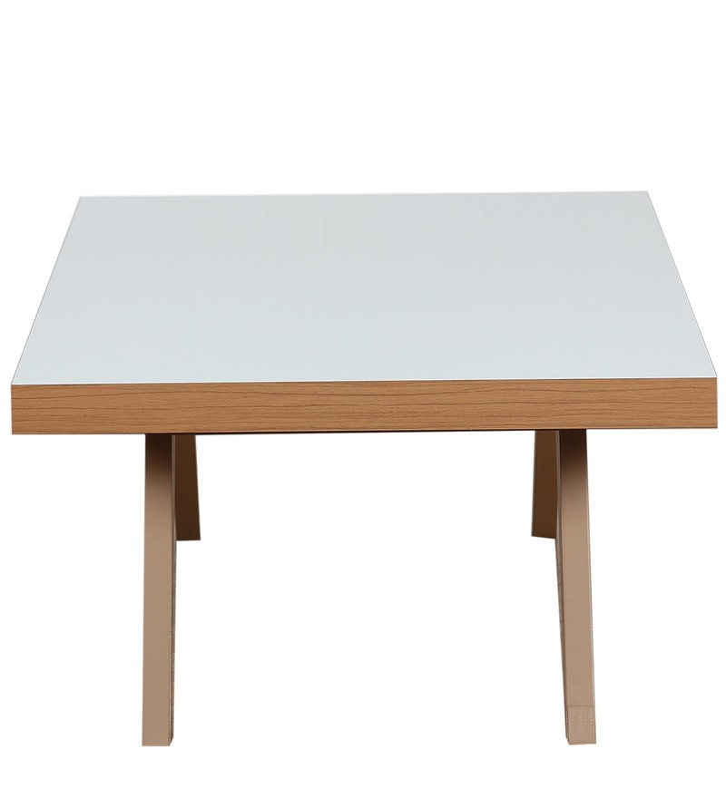 Light Colored Wood Coffee Table.Luna Coffee Table In Light Brown Glossy Off White Finish By Casacraft