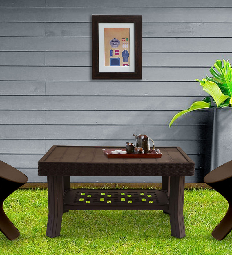Luxury Center Table in Metallic Brown Matte Finish by Italica
