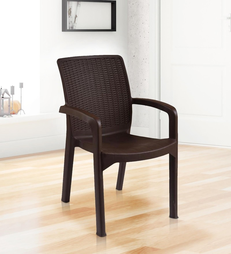 Buy Luxury Plastic Chair In Brown Colour By Italica