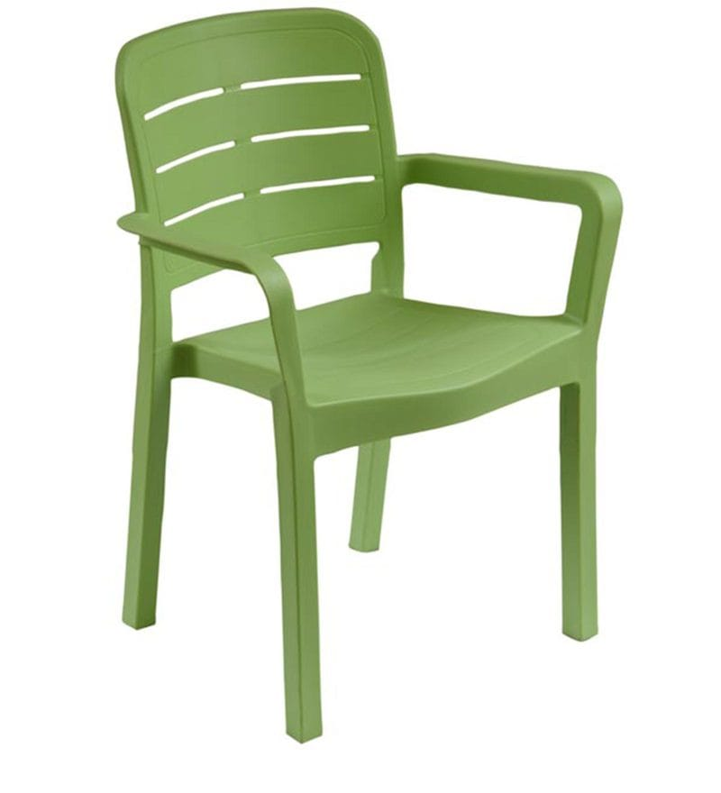 Buy Luxury Plastic Chair In Green Colour By Italica