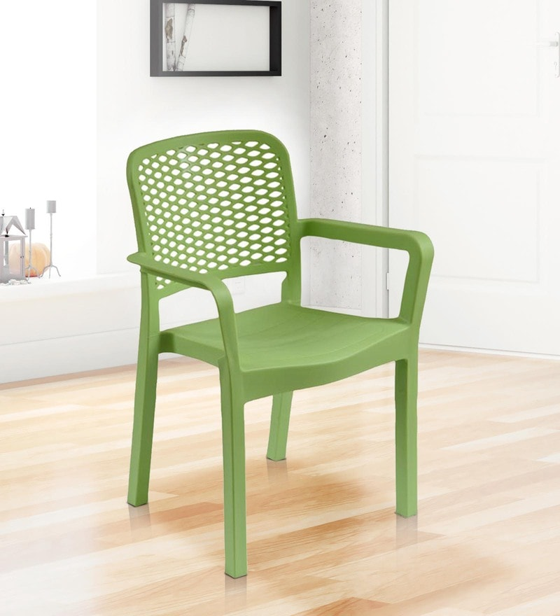 Luxury Plastic Chair in Green Colour by Italica Furniture