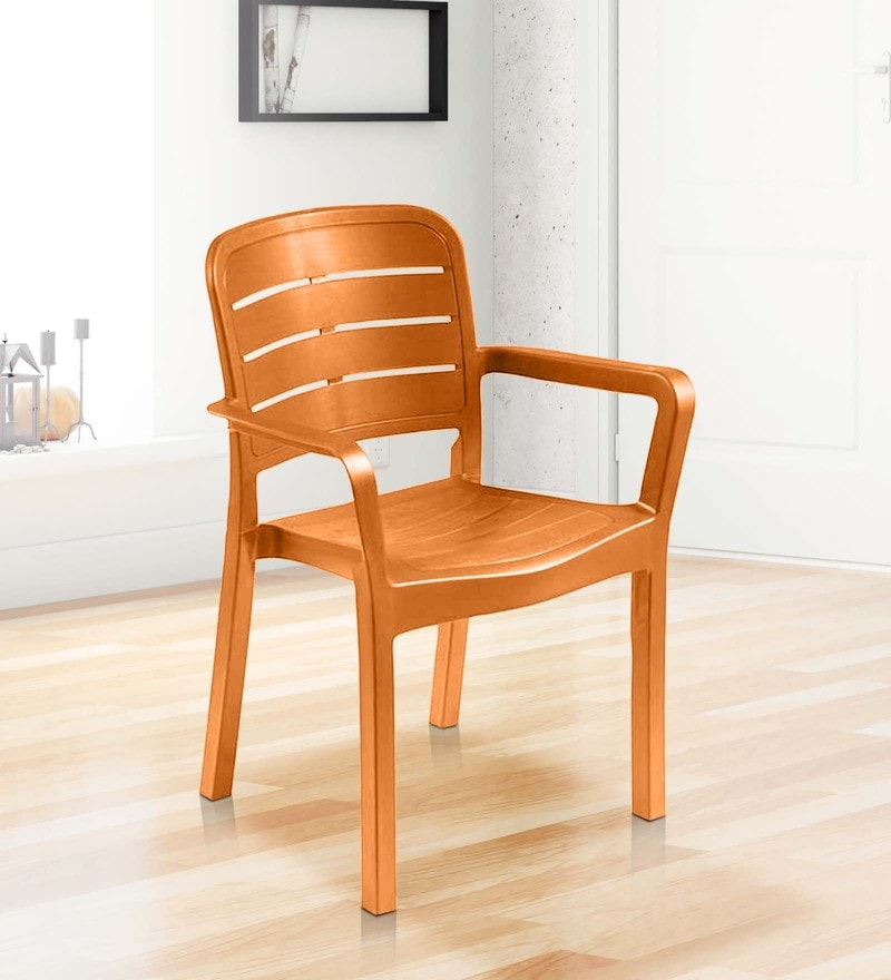 Luxury Plastic Chair in Orange Colour by Italica Furniture