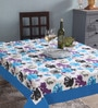 Lushomes 4 Seater Watercolour Blue Cotton Table Cloth