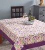 Lushomes 6 Seater Purple Cotton Table Cloth
