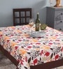 Lushomes 6 Seater Small Leaf Multicolour Cotton Table Cloth