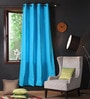 Lushomes Bachelor Button Cotton 90 x 54 Inch Plain Door Curtain with 8 Eyelets & Plain Tiebacks  -1 Piece