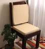Beige Cotton & Foam 16 x 16 Inch Half Panama Chair Pads - Set of 2 by Lushomes
