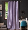 Lushomes Blue Polyester 108 x 54 Inch Twinkle Star 8 Eyelets Long Door Curtain with Blackout Lining  -1 Piece