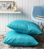 Blue Polyester 24 x 24 Inch Embossed Blackberry Cushion Cover - Set of 2 by Lushomes
