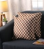 Brown Polyester 16 x 16 Inch Jacquard Cushion Covers - Set of 2 by Lushomes