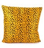 Lushomes Golden Yellow Polyester 24 x 24 Inch Leopard Skin Printed Cushion Covers - Set of 2