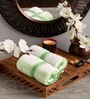 Lushomes Green Cotton 16 x 24 Hand Towel - Set of 2