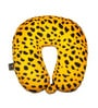 Lushomes Leopard Skin Printed Polyester Yellow Neck Pillow